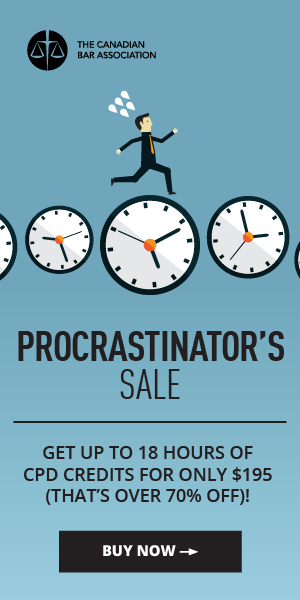Procrastinator's Sale - Get up to 18 hours off CPD credits for only $195 (that's over 70% off)! - Buy now